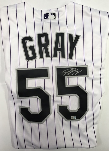 Photo of Jon Gray Autographed Authentic Rockies Jersey