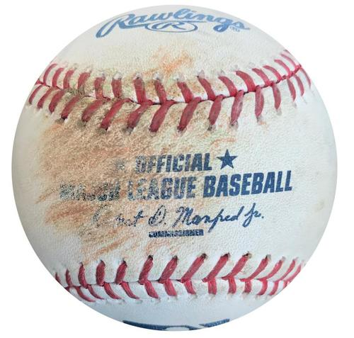 Photo of Game-Used Baseball from Pirates vs. Braves on 5/16/16 - Cole Figueroa Single