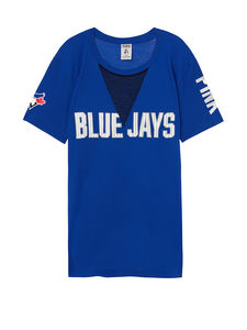 Toronto Blue Jays Women's PINK Mesh Campus T-Shirty by Victoria's Secret