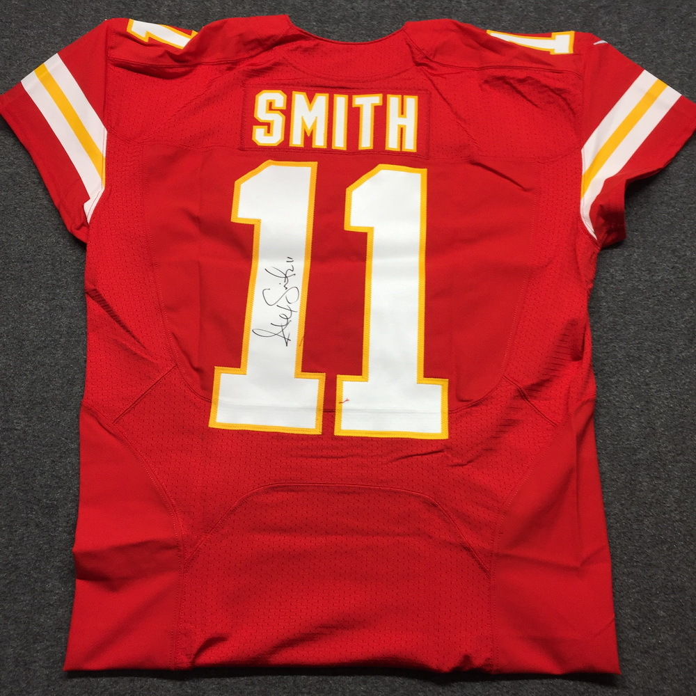 CHIEFS - ALEX SMITH SIGNED AUTHENTIC CHIEFS JERSEY - SIZE 42