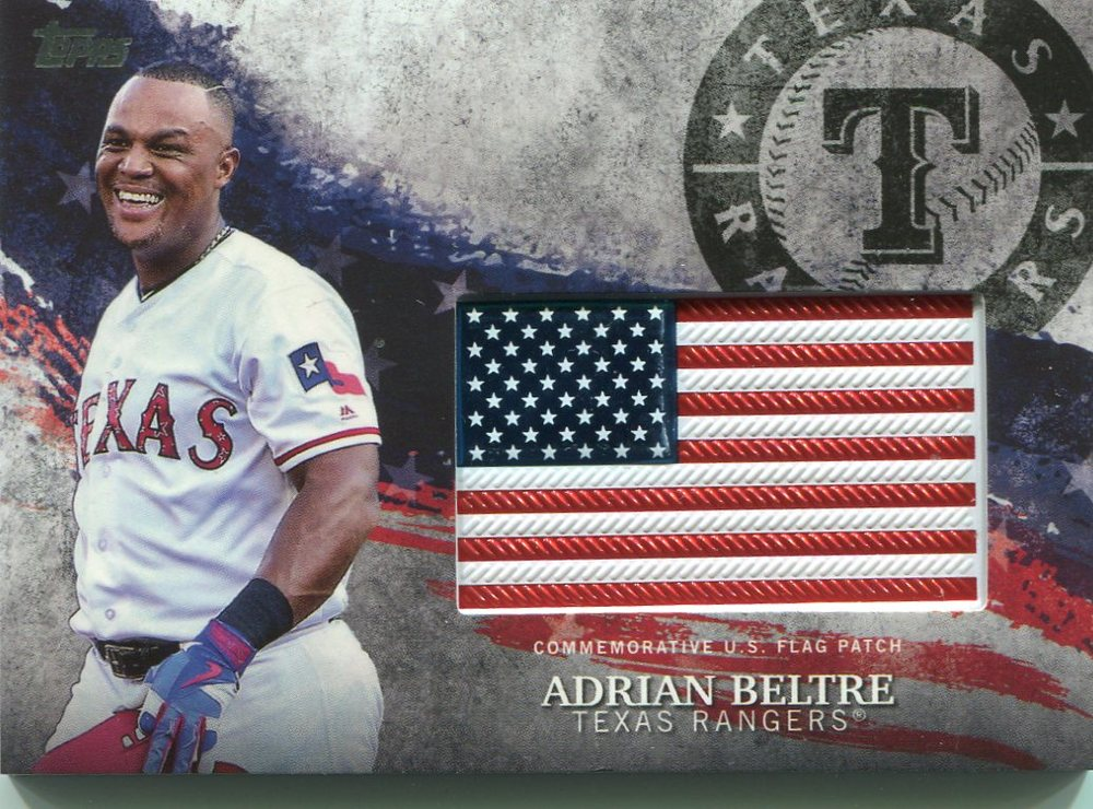 2018 Topps Independence Day U.S. Flag Relics #IDMLAB Adrian Beltre