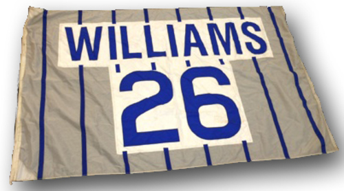 Photo of Wrigley Field Collection - Foul Pole Flag - Billy Williams Retired Number Flag - 'Williams 26'