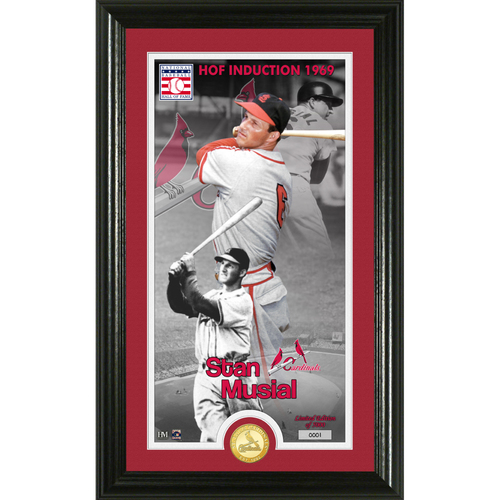 Photo of Serial #1! Stan Musial Class of 1969 Supreme Bronze Coin Photo Mint