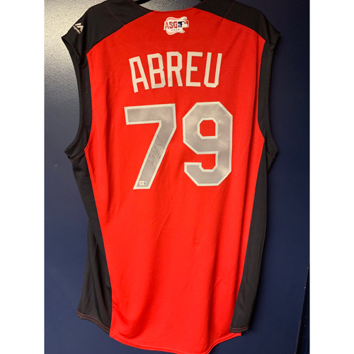 Jose Abreu 2019 Major League Baseball Workout Day Autographed Jersey