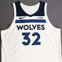Karl-Anthony Towns - Minnesota Timberwolves - Kia NBA Tip-Off 2019 - Game-Worn Association Edition Jersey - Double-Double - Team-High 36 Points Scored