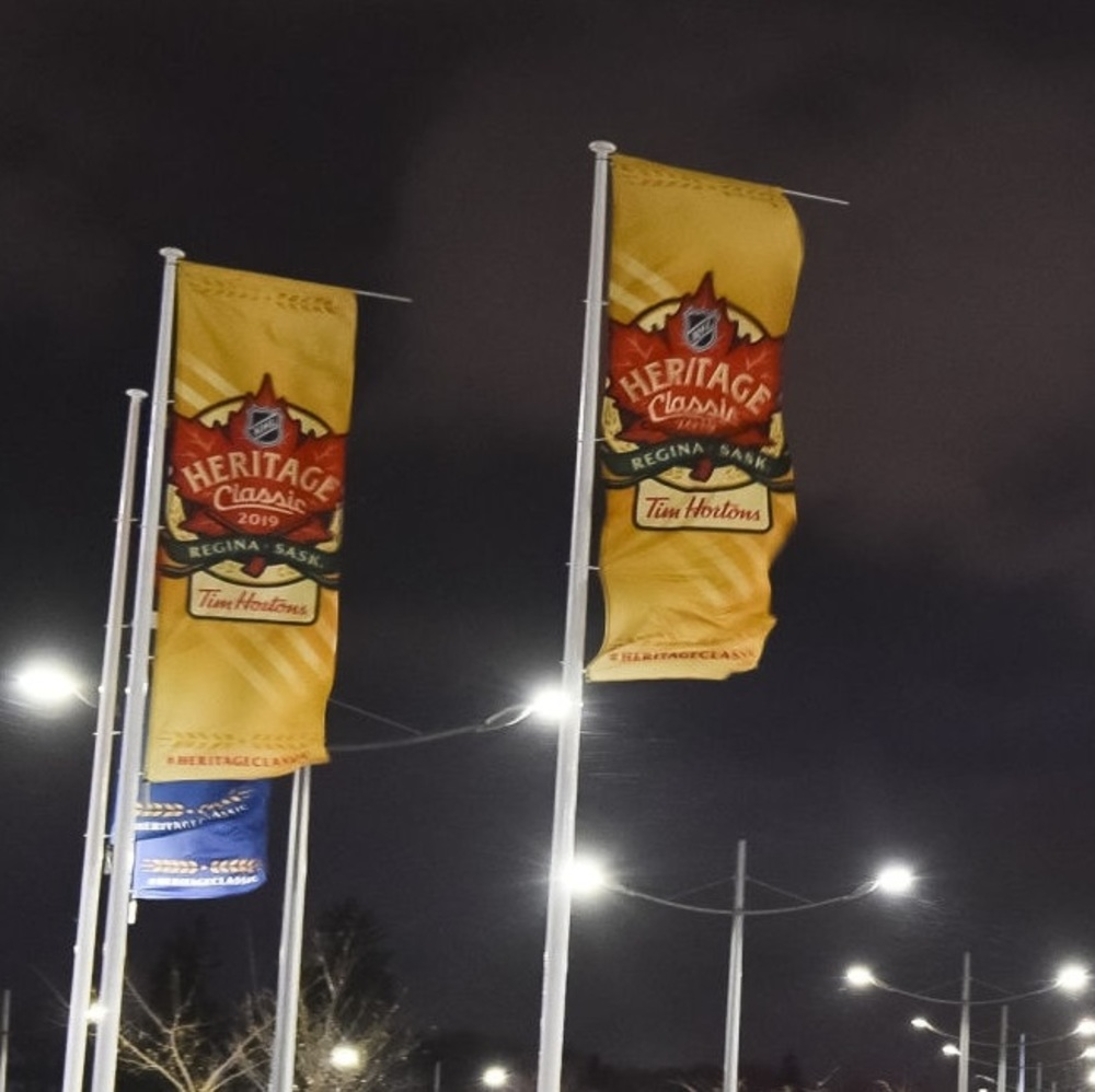 2019 NHL Heritage Classic Banner - Event Branded