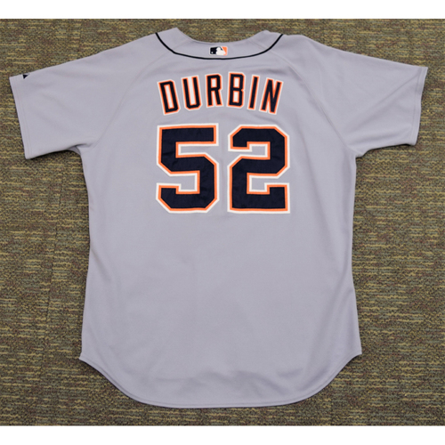 Photo of Chad Durbin Clubhouse Issued Detroit Tigers #52 Road Jersey (NOT MLB AUTHENTICATED)
