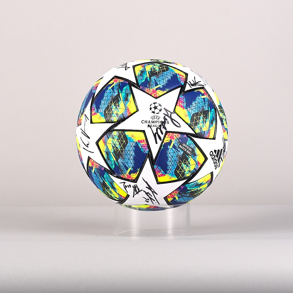 A 19/20 Champions League ball signed by the GNK Dinamo Team