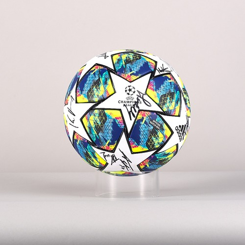Photo of A 19/20 Champions League ball signed by the GNK Dinamo Team