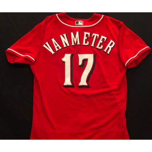 Photo of Josh VanMeter -- 2020 Spring Training Jersey -- Game-Used -- Size 44