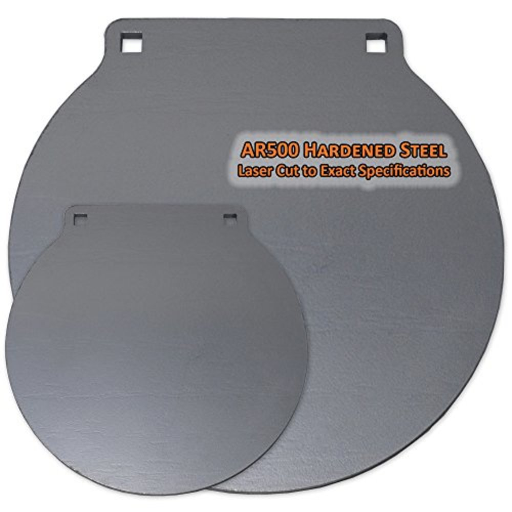 Photo of Copper Ridge Outdoors AR500 Target - 1/2 in. Round AR500 Steel Gong Target, 8 in. Diameter Laser Cut Hardened Steel, Rifle and Pistol Calibers, Shootsteel Targets, Steel Shooting Targets