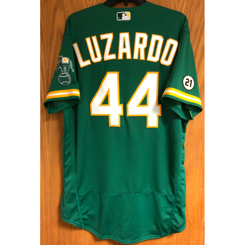 Photo of Game-Used 2020 Jersey - Jesus Luzardo (9/9/20 Roberto Clemente Day; 7IP, 7 SO)