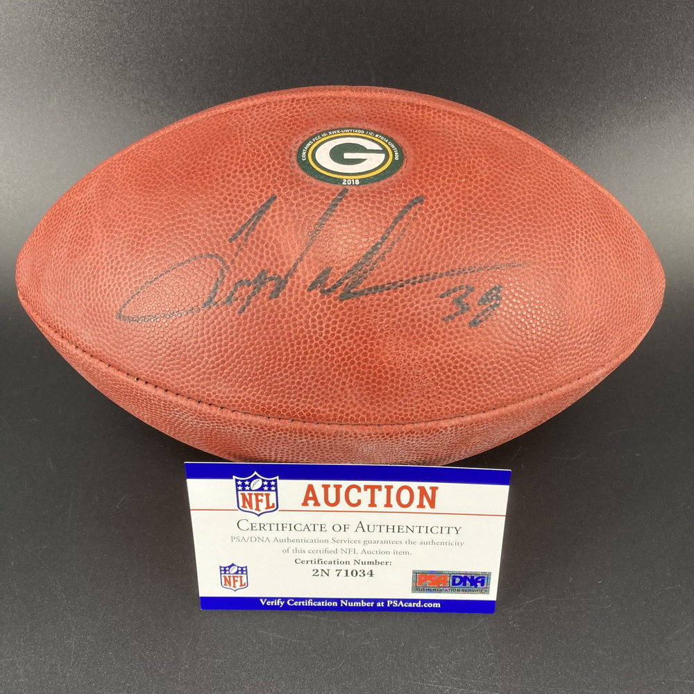 PCF - Packers Tramon Williams Signed Authentic Football w/ Packers Logo
