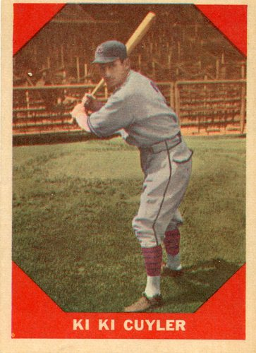 Photo of 1960 Fleer #75 Kiki Cuyler Hall of Fame Class of 1968