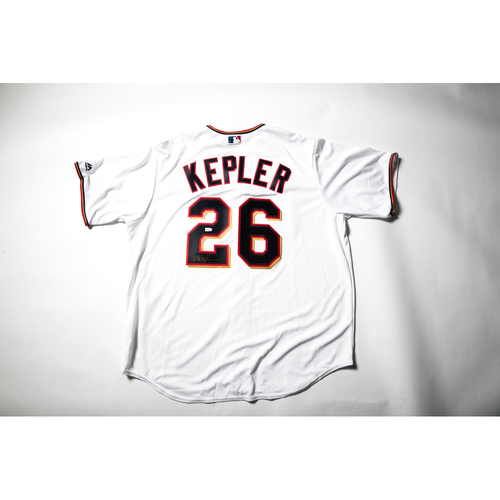 Home White Autographed Replica Jersey - Max Kepler Size XL