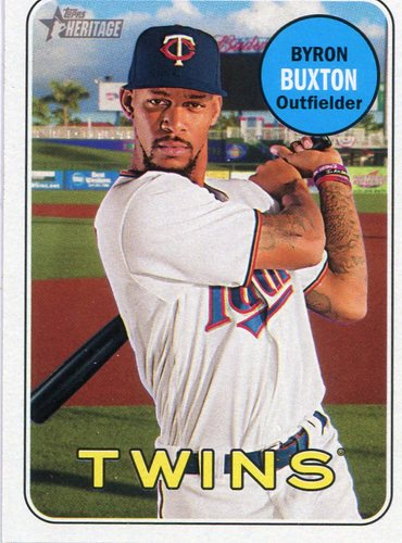 Photo of 2018 Topps Heritage #337 Byron Buxton