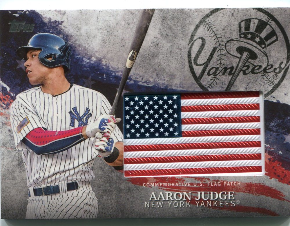 2018 Topps Independence Day U.S. Flag Relics #IDMLAJ Aaron Judge