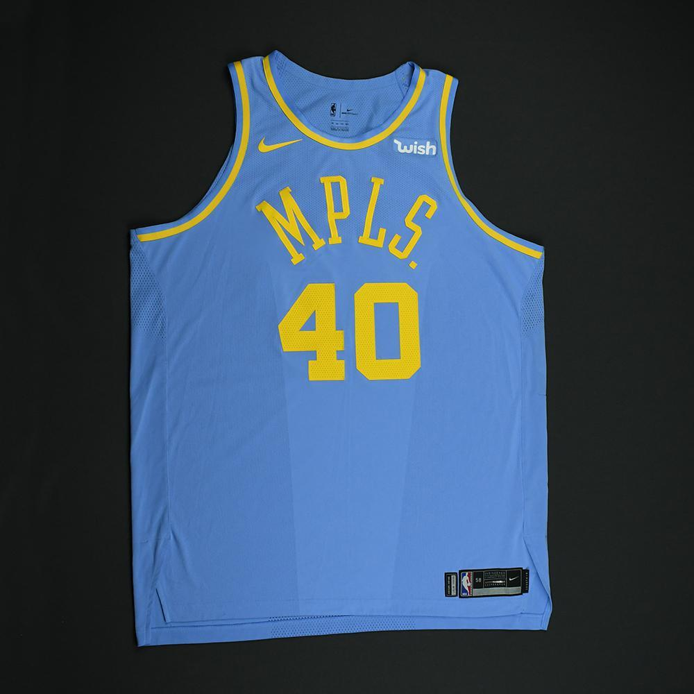 Ivica Zubac - Los Angeles Lakers - Game-Worn Classic Edition Minneapolis Lakers 1948-52 Road Jersey - 2017-18 Season