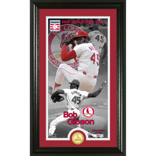 Photo of Serial #1! Bob Gibson Class of 1981 Supreme Bronze Coin Photo Mint