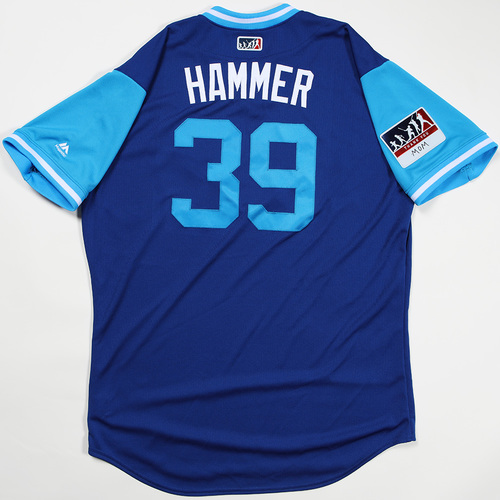 "Photo of Jason ""Hammer"" Hammel Kansas City Royals Game-Used Jersey 2018 Players' Weekend Jersey"