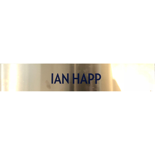 Photo of Ian Happ Team-Issued Locker Nameplate -- 2017 Season