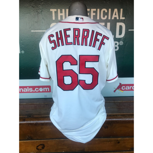 Cardinals Authentics: Game Worn Ryan Sherriff Saturday Alternate Ivory Jersey