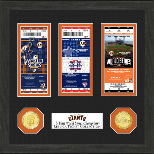 Photo of San Francisco Giants World Series Ticket Collection