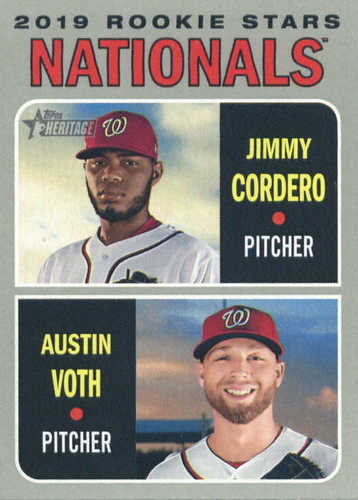 Photo of 2019 Topps Heritage #154 Austin Voth RC/Jimmy Cordero RC