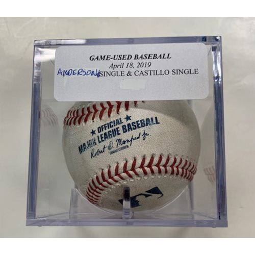 Photo of Game-Used Baseball: Tim Anderson Single & Welington Castillo Single