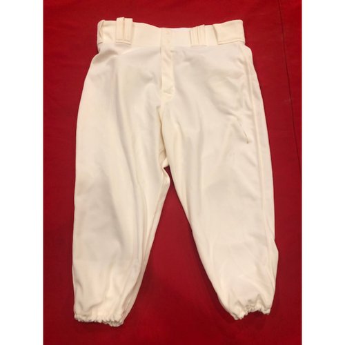 Photo of Sonny Gray -- Game-Used Pants -- 1912 Throwback Game -- Dodgers vs. Reds on May 19, 2019 -- Size: 33-40-20