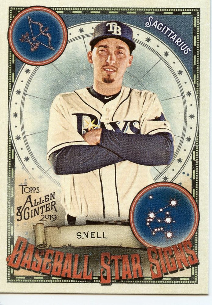 2019 Topps Allen and Ginter Baseball Star Signs #BSS27 Blake Snell