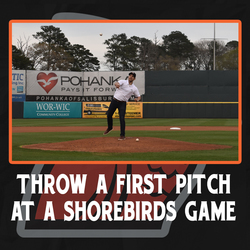 Photo of Throw Out the 1st Pitch at the 1st Shorebirds Game
