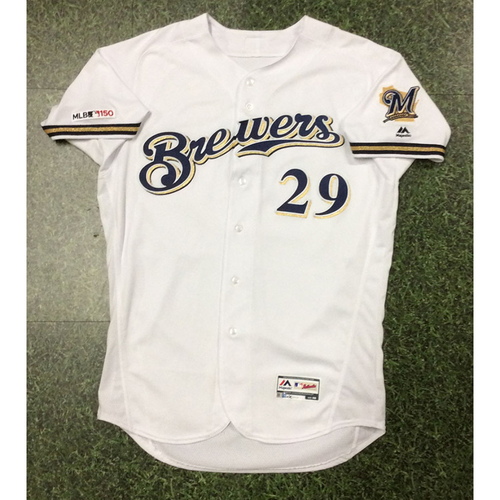 Photo of Tyler Austin 2019 Game-Used Home White Jersey