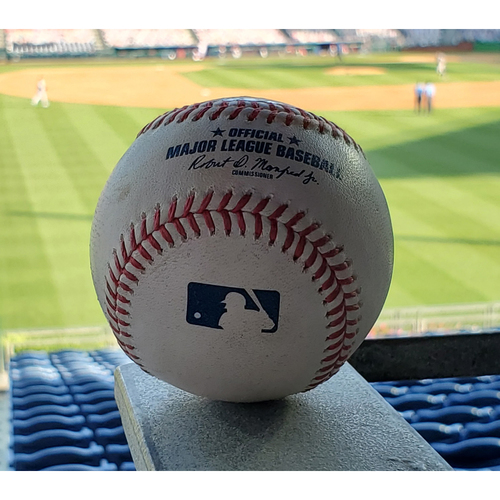 Photo of 2020 Phillies Game-Used Baseball - Bryce Harper 2-run Home Run