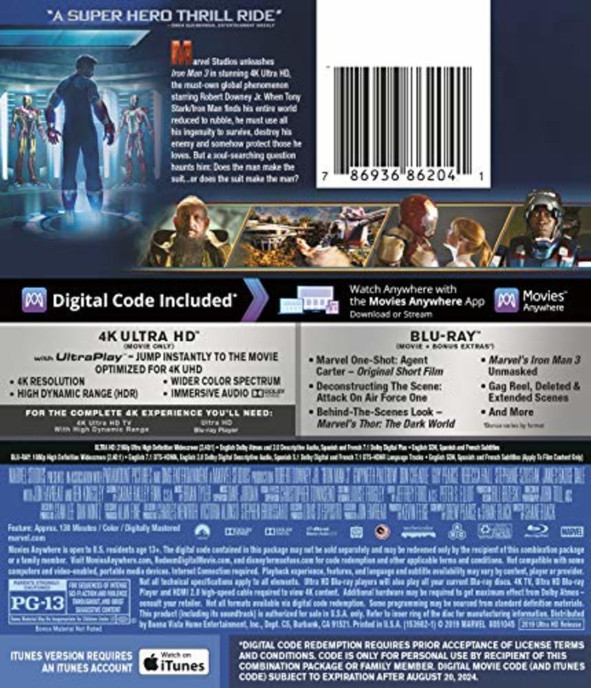 Photo of IRON MAN 3 [Blu-ray]