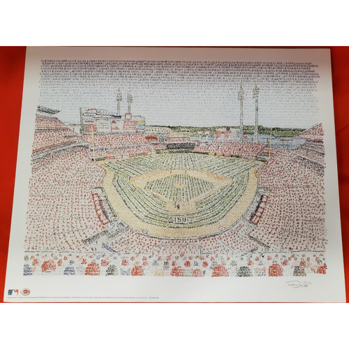 "Photo of Matted GABP Worded Print with Player Names - 16""x20"""