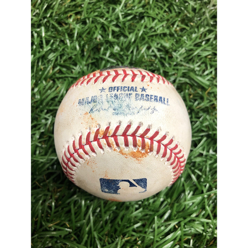 Photo of Spring Training Game Used Baseball: Bryce Ball single off Hunter Strickland - Top 2 - February 28, 2021 v ATL