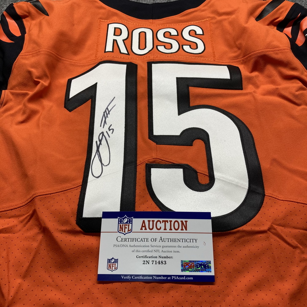 NFL Auction   STS - Bengals John Ross Signed Game Used Jersey (11 ...