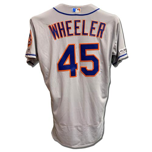 Photo of Zack Wheeler #45 - Team Issued Road Grey Jersey - 2019 Season
