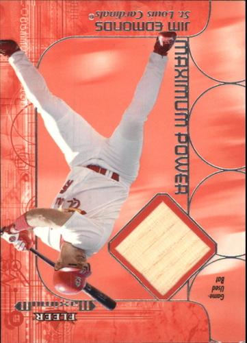 Photo of 2002 Fleer Maximum Power Bat #6 Jim Edmonds