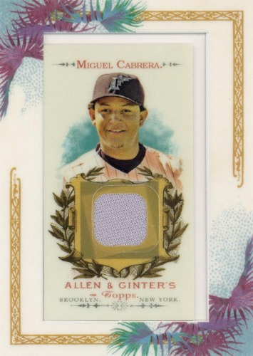 Photo of 2007 Topps Allen and Ginter Relics #MC1 Miguel Cabrera G
