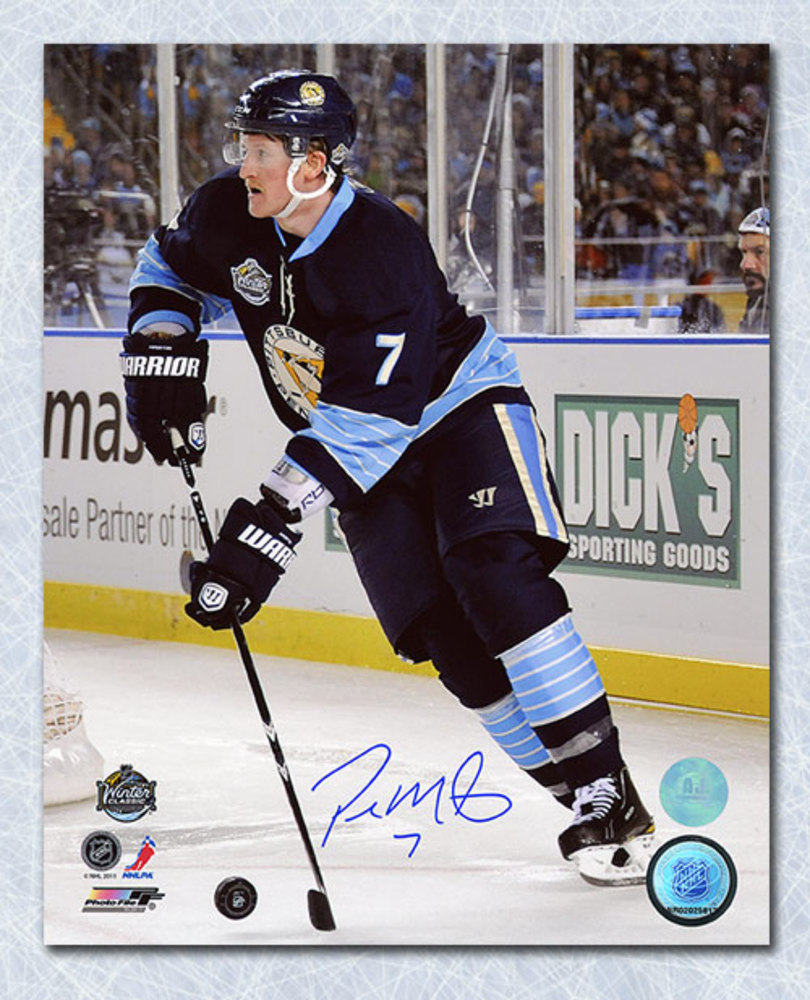 Paul Martin Pittsburgh Penguins Autographed 2011 Winter Classic 8x10 Photo