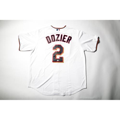 Home White Autographed Replica Jersey - Brian Dozier Size L