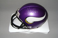 NFL - VIKINGS HARRISON SMITH SIGNED VIKINGS MINI HELMET