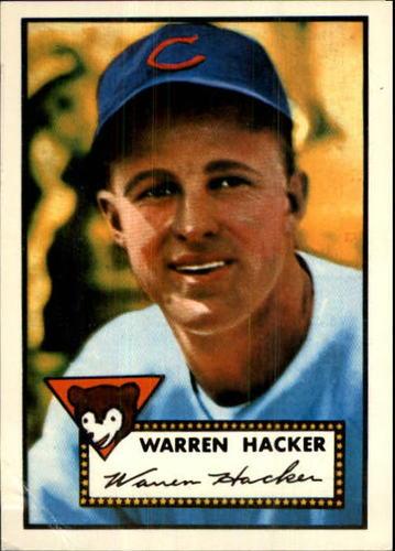 Photo of 1983 Topps 1952 Reprint #324 Warren Hacker
