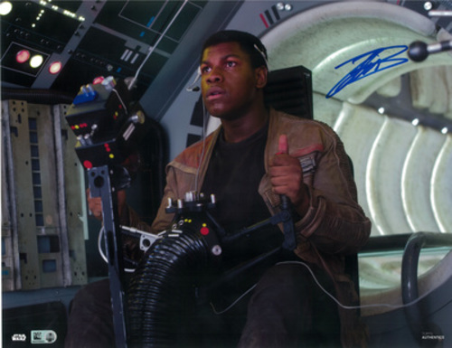 John Boyega as Finn 11x14 Autographed in Blue Ink Photo