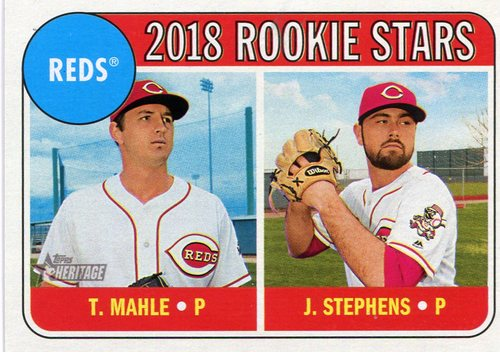 Photo of 2018 Topps Heritage #339 Tyler Mahle RC/Jackson Stephens RC