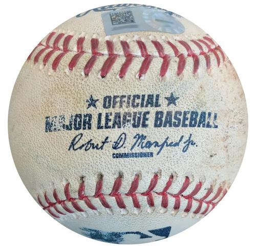 Photo of Game-Used Baseball from Pirates vs. Giants on 6/21/16 - Ramiro Pena Triple