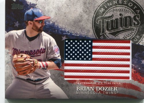 Photo of 2018 Topps Independence Day U.S. Flag Relics #IDMLBD Brian Dozier
