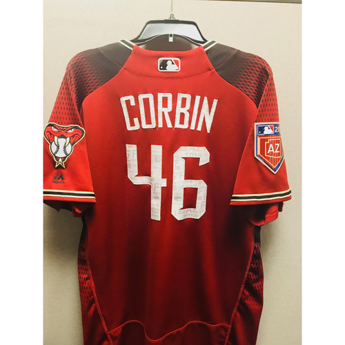Photo of 2018 Patrick Corbin Team-Issued Spring Training Jersey